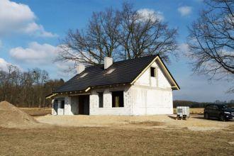 Pierwsze domy w trakcie budowy